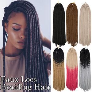 Straight Dreadlocks Faux Locs Black Brown Ombre Afro Crochet Braids