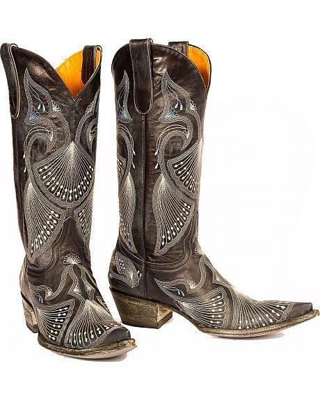 LADIES OLD GRINGO blueE JEANS PAVITO WESTERN BOOTS L-214-30