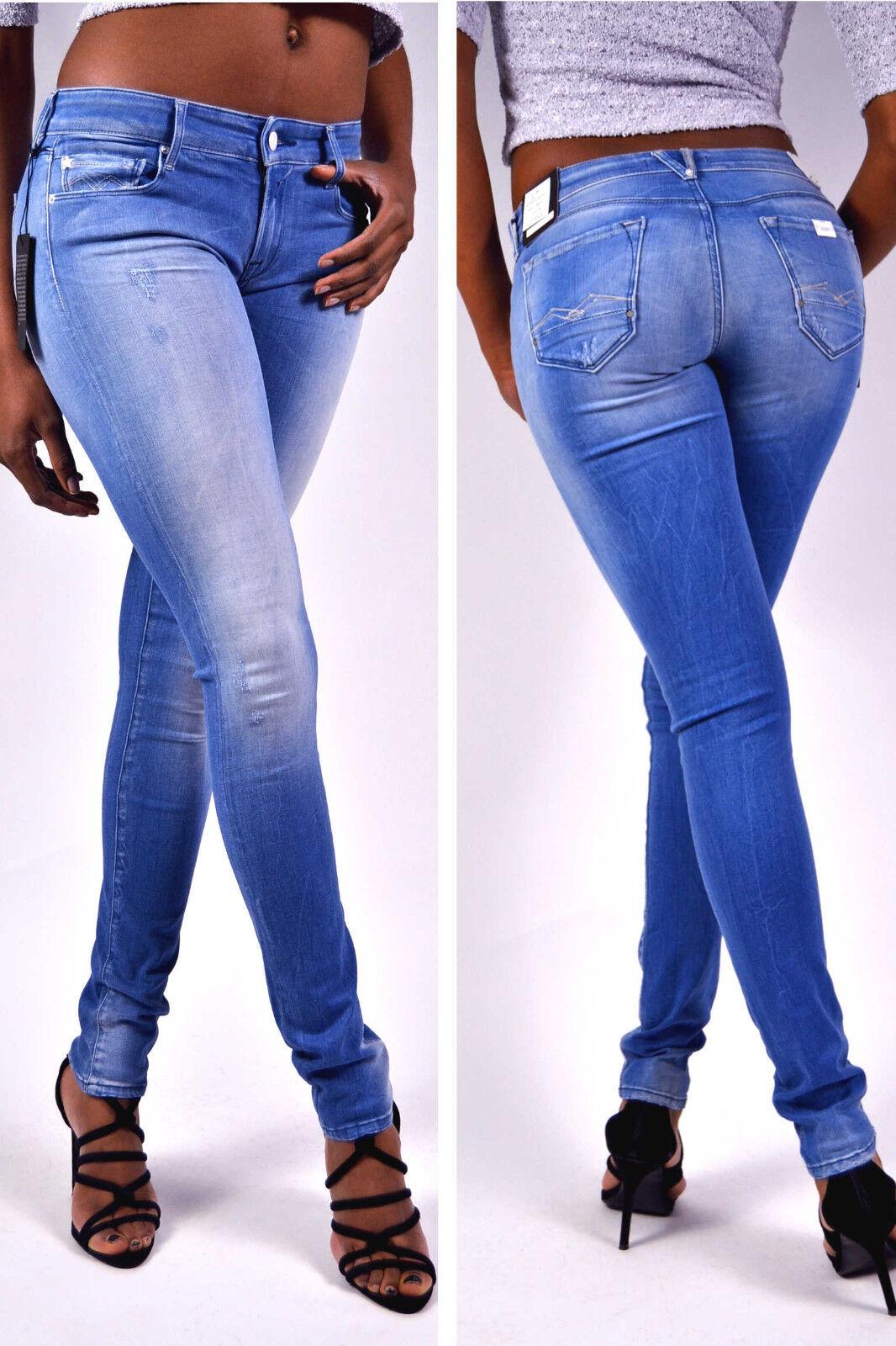 REPLAY Jeans Rosa WX613 95A Slim Fit Jeans Hellblau Knack Po Gr. W25 W32 W33