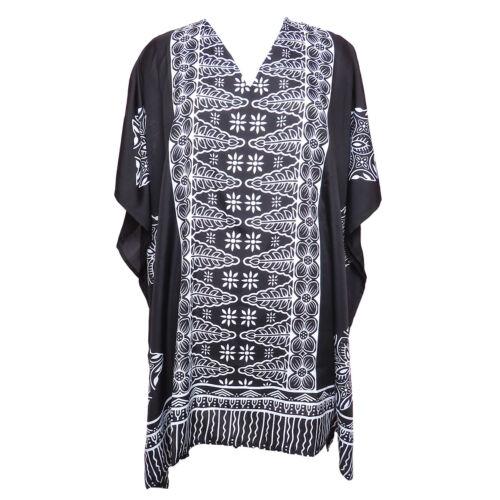Black and White Tunic Kaftan Short Kaftan Caftan Boho Tunic Beachwear