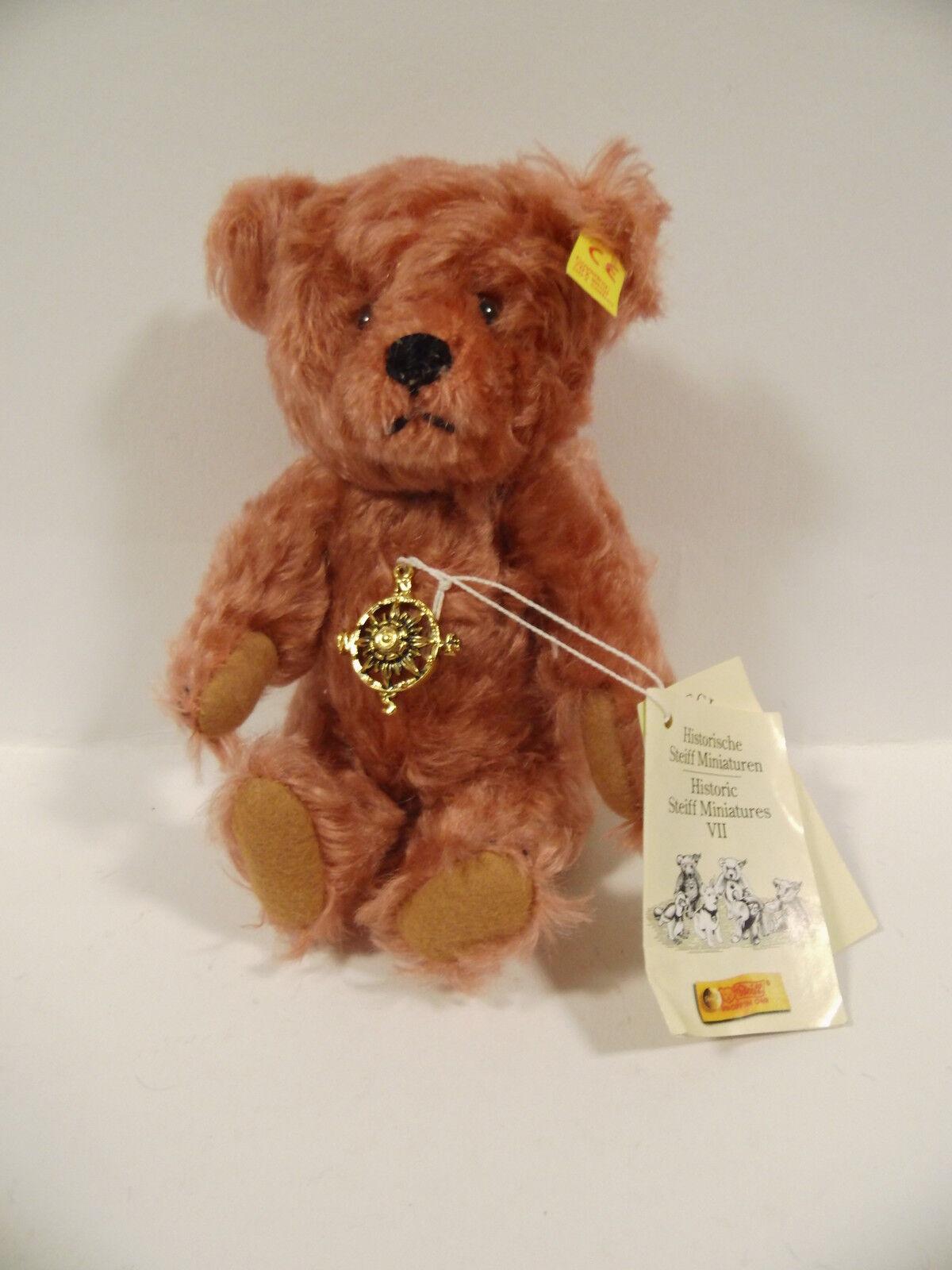 Steiff Teddy - Genuine Mohair - 16 cm - 029608 029608 029608 - Zertifikat - Top Zustand 3f5657