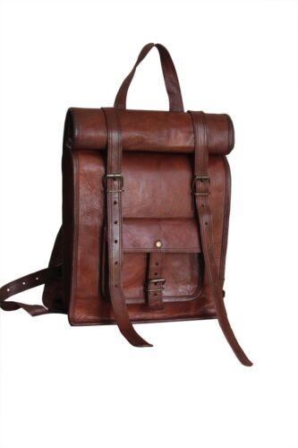 S TO L genuine leather Men/'s Backpack Satchel Brown Vintage Bag laptop Rusksack