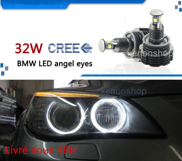 LED Angel Eyes BLANC H8 32W POUR BMW E82,E87,E90,E92,E93,X1, X5(E70) X6(E71)