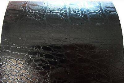 50cm x 1.52M Matte Black Crocodile Skin Vinyl Car Wrap Air Release Film Squeegee