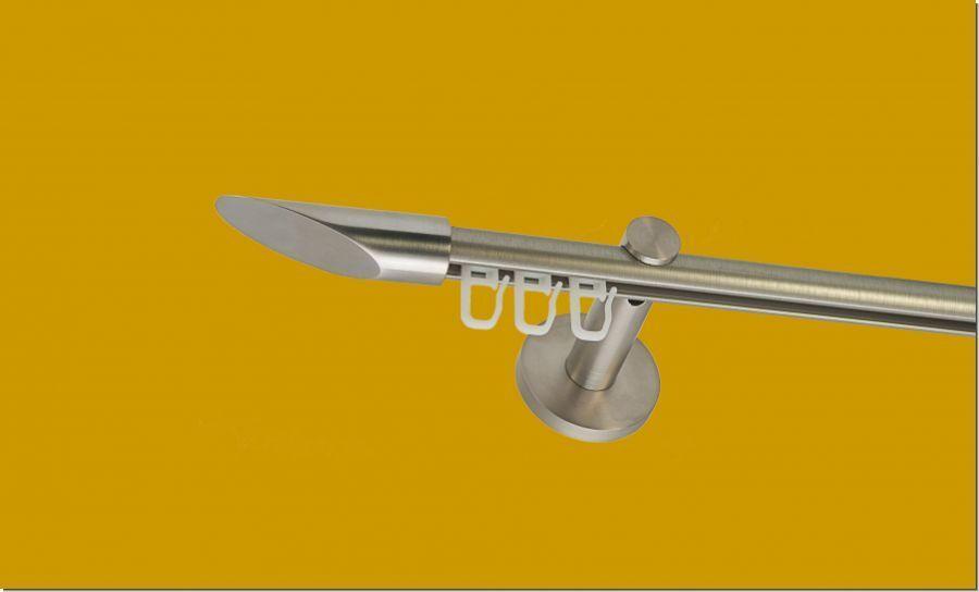 Gardinenstange Innelaufsystem 1lauf 16mm Edelstahl Design Design Design   Passend In Der Farbe  4ce549