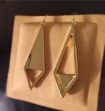 US Seller Gold Tone geometric mismatch New fashion hook Dangle Earrings