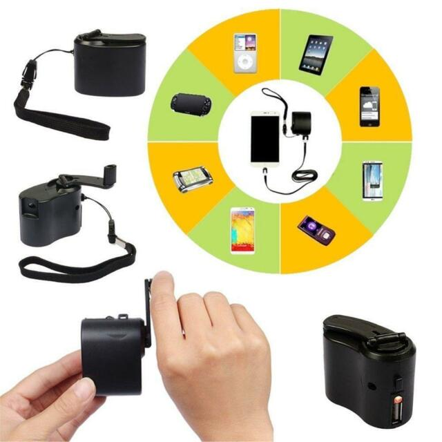 Hot Hand Power Dynamo Hand Crank USB Cell Phone Emergency Charger Gadget Cool ❀O