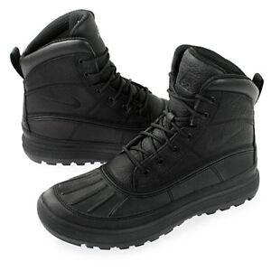 7900e85782d7 Men s Nike ACG Woodside II Leather Boots Black Black Sizes 8-13 NIB ...
