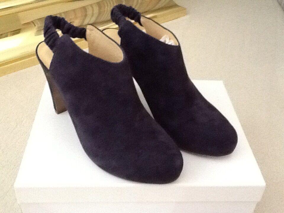 Para Morado/Negro mujeres Zapatosver por Chloe 4 dk Morado/Negro Para Gamuza Moda Tobillo EU40/US10M 7f0f32