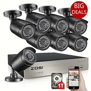 Zosi 1tb 8ch 1080n tvi 1500tvl outdoor home cctv security camera image is loading zosi 1tb 8ch 1080n tvi 1500tvl outdoor home reheart Image collections