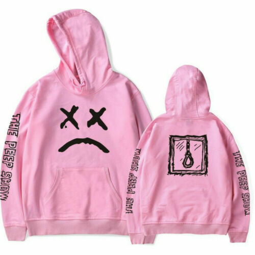 Lil Peep Cry Face Back Mens Sweatshirt Unisex Hoodies graffiti Hip Hop Rapper