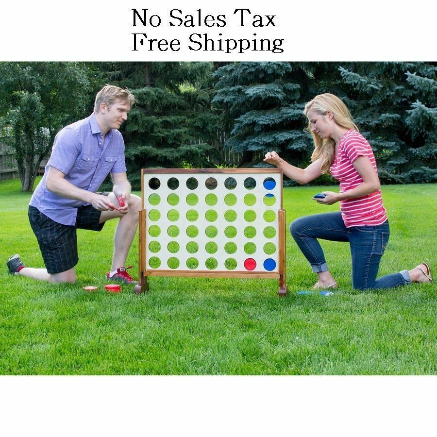 Jumbo Giant Connect Four 4 in a row Wooden Play Yard Home Game Kids Adults Board