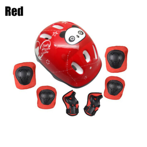 Details about  /7pcs Kids Outdoor Sports Protective Gear Safety Pads Set Helmet Knee /&Elbow Pads