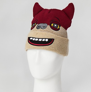 NEW-Spin-Master-Fuggler-Cuffed-Knit-Beanie-Red