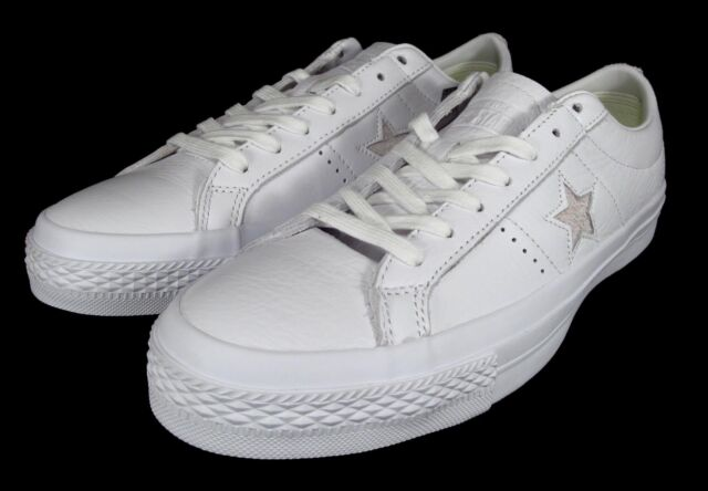 b300eb706670a1 Converse One Star Premium Low Top White Men Classic Shoes SNEAKERS 155547C  10