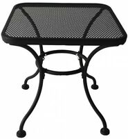 Garden Treasures Davenport 18-in Traditional Black Frame Square Steel End Table
