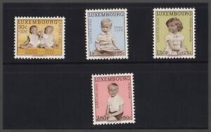Lussemburgo 1962 Caritas Principe Jean principessa Margaretha NR: 660/65