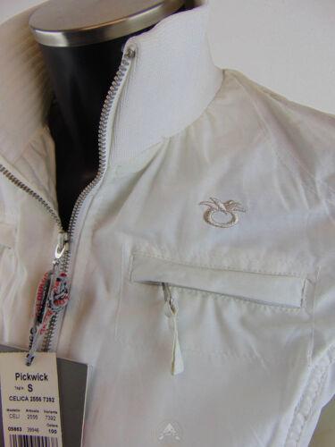 NWT PICKWICK Giacca S Jacket Small Top Leggera Light Bianco White