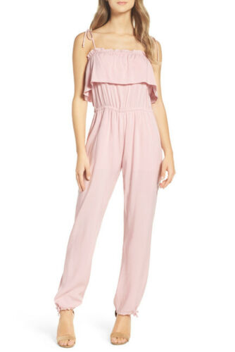 74 Nsr Size Sleeveless New M Pink Ditzy Ruffle Nordstrom Rose Jumpsuit xYdwq6C6f