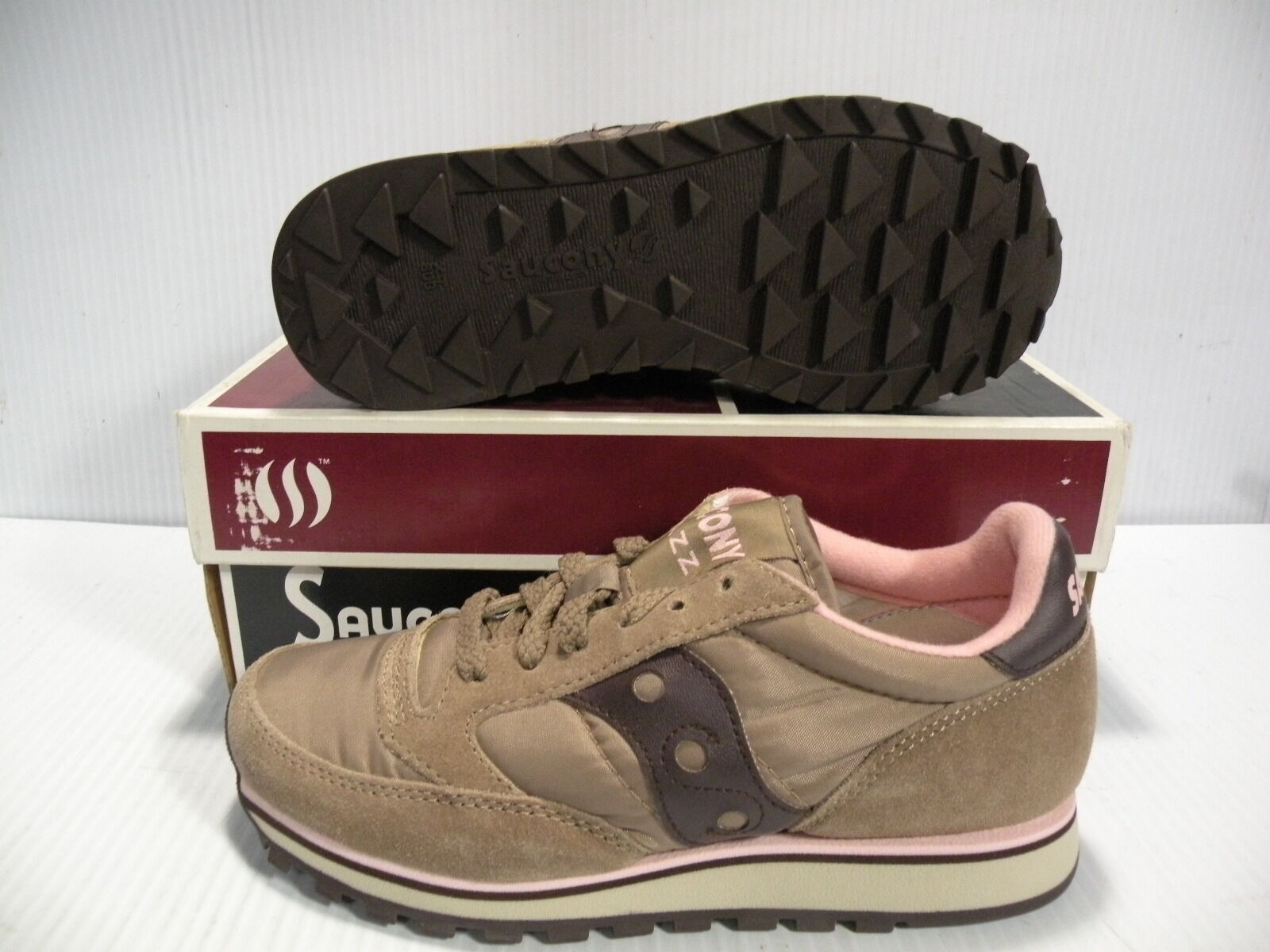 SAUCONY JAZZ SERIES LOW SNEAKER WOMEN Schuhe MILK CHOCOLATE 1785-6  SIZE 5.5 NEW