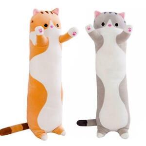 50CM Long Cute Cat Doll Plush Toy Soft Stuffed Kitten Toy Pillow Sleeping P N8P8