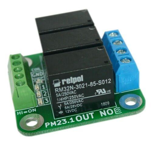 Relay module 12V 3x RELPOL 5A 250V sensitive coil small size ARDUINO PM23.1