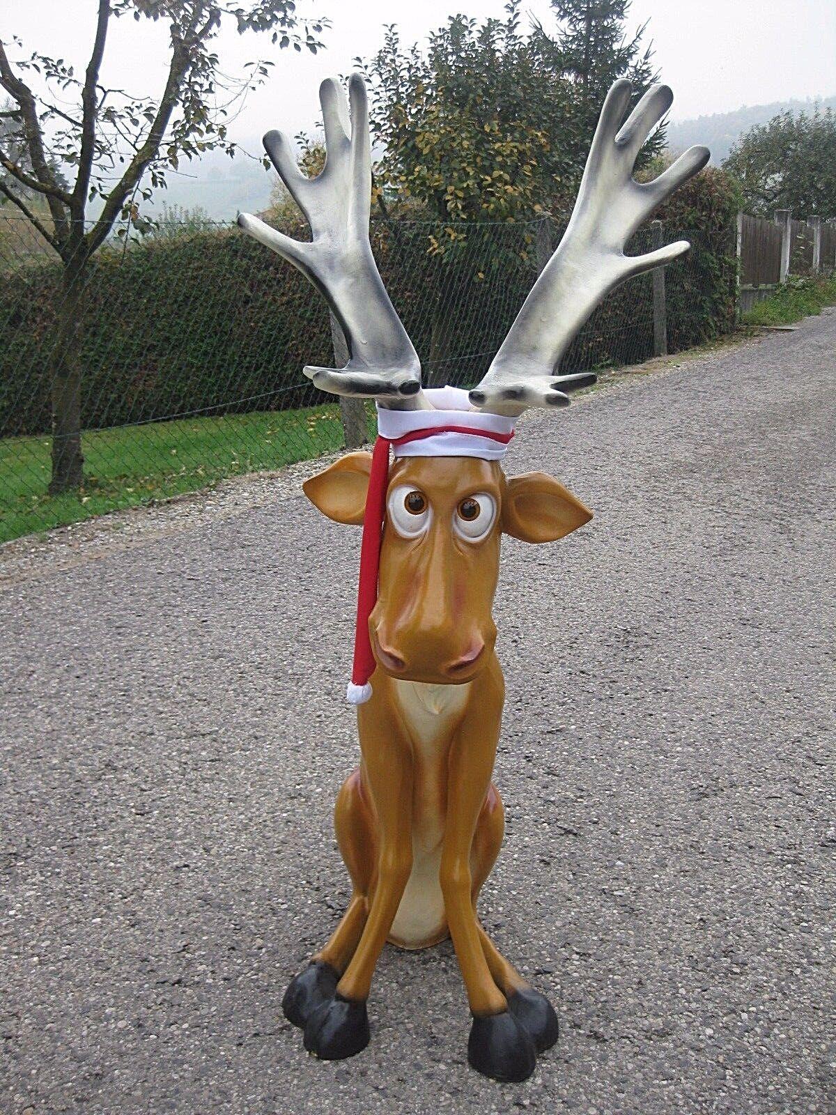 Rentier Rudi 145 cm Rudolf Deko Figur Weihnachtsdekoration Weihnachten neu Elch   | Neuer Eintrag  | Preiszugeständnisse