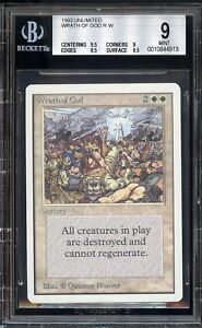 Wrath-of-God-UNLIMITED-BGS-9-Centering-Surface-9-5-Beckett-MINT-Magic-MTG