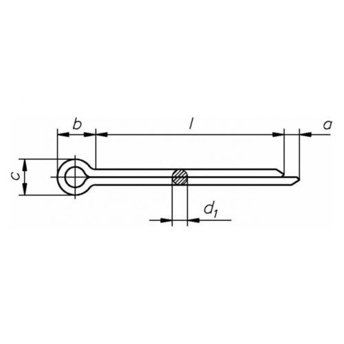 A4 blank 10x DIN 94 Splint 3.2 x 40