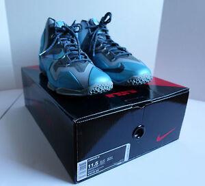 Nike LeBron 11 Gamma Blue Size 11.5 Basketball Sneaker Men