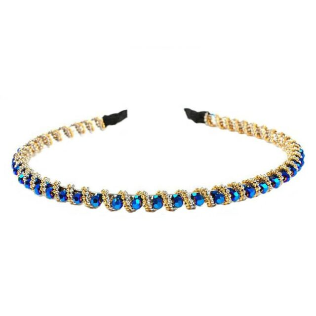 Fashion Bling Rhinestone Hair Hoop Crystal Bead Headband For Bang Fringe R1J5