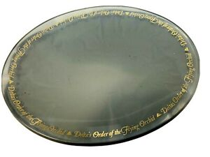 Vintage-Delta-Airlines-034-Order-of-the-Flying-Orchid-Glass-Serving-Tray-Dish-034
