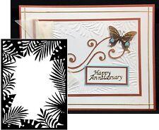 Darice Embossing folder Leafy JUNGLE BORDER frame 1219-114 Cuttlebug Compatible