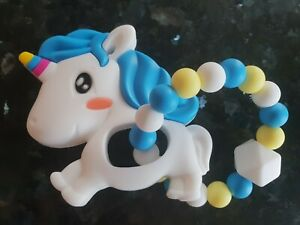 Animal-Teether-Chew-Silicone-Unicorn-BPA-Free-Baby-Shower-Toy-UK-Seller