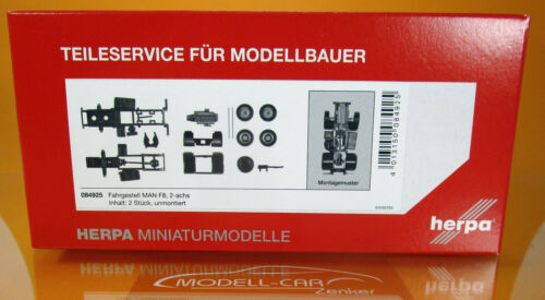 Herpa 084925 MAN ZGM F8 Fahrgestell 2achs Scale 1 87