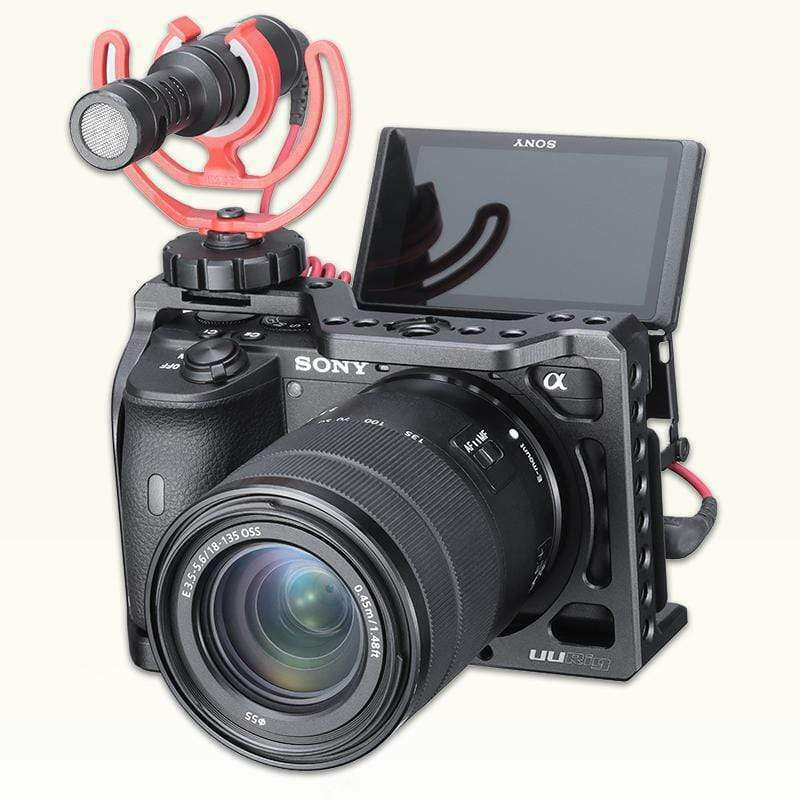 Ulanzi UURig C-A6600 Camera VLOG Cage Cold Shoe Mount Set for Sony A6600 Camera
