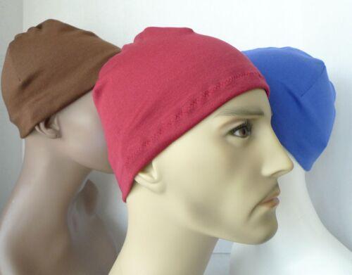 Mens Skull Hat Comfortable Cap Beanie CPAP Chemo Sleeping Cap Many Colors