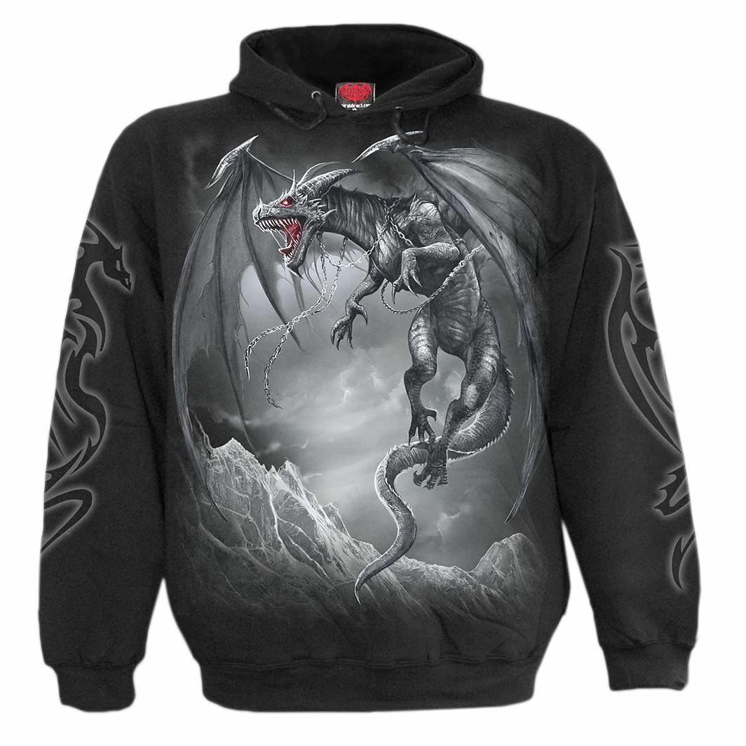 Spiral Dragon's Cry Gothic Hoodie
