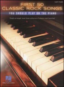 50 Premières Rock Classique Chansons Vous Devriez Jouer Sur Le Piano Sheet Music Book-afficher Le Titre D'origine Forte RéSistance à La Chaleur Et à L'Usure