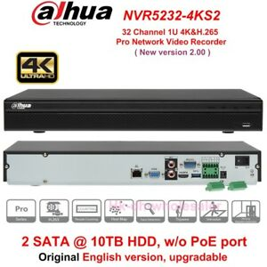 Details about Dahua NVR5232-4KS2 32 Channel 4K H 265 Pro Network Video  Recorder w/o PoE Port