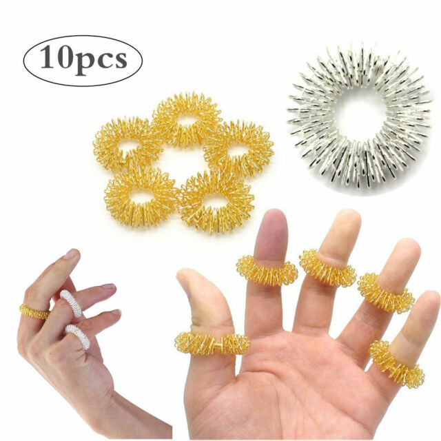 Natural & Alternative Remedies Health & Beauty Pack Of 10 Acupressure Sujok Pain Therapy Finger Massager Circulation Rings Big Clearance Sale
