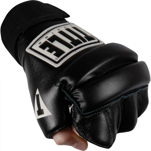7e210824924 Title Boxing Padded Hook and Loop Leather Speed Bag Gloves - Black M ...