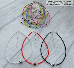 HOLIDAYS CHOICE OF COLOUR f BEADED ANKLET  CHAIN  CORD