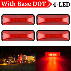 4x-Red-4LED-Side-Marker-Lights-Lamp-Truck-Car-Trailers-Indicator-12V-Waterproof