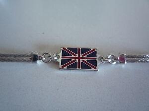 Nouveau Argent Bracelet Avec Britannique Drapeau De L'angleterre 8bsn0wek-07213239-909614651