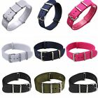 18mm 20mm 22mm Army Military Nylon Wrist Watch Band Strap Stainless Steel Buckle