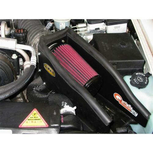 AirAid Air Intake Kit 200-133; CAD Black Tube Red Filter for 96-05 S-10 Blazer