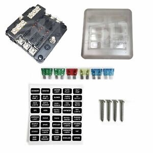 details about 6 way fuse box block 12v led indicators with ground farm semi diesel rv tractor Electrical Box