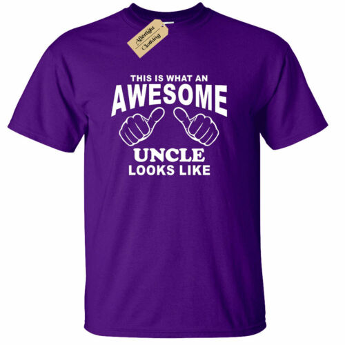 Awesome UNCLE T-Shirt Funny uncles gift present top birthday gift