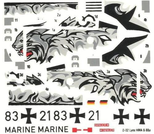ROYAL NAVY /& GERMAN MARINE MARKINGS WESTLAND SUPER LYNX HMA.8 1//72 MISTERCRAFT